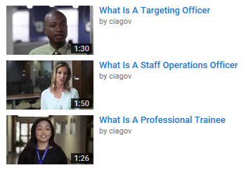 Other CIA Career Videos