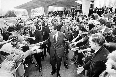 Richard Nixon's visit in 1969 to CIA Headquarters in Langley, Virginia.