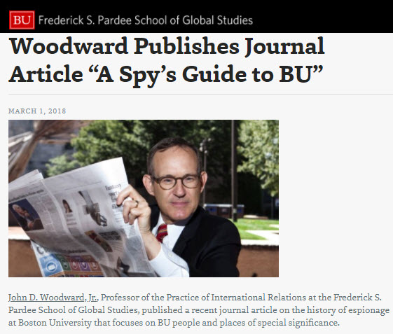 Woodward on Spy's Guide to Boston University