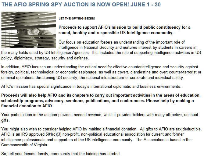 AFIO Auction